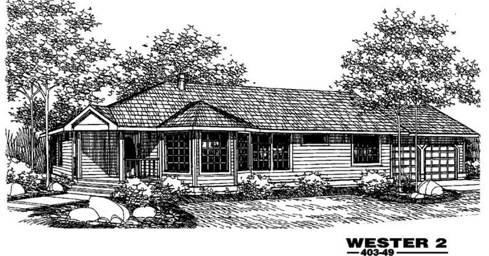 Main image for house plan # 5529