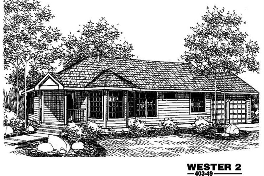 3-Bedroom, 1651 Sq Ft Contemporary Home Plan - 145-1326 - Main Exterior