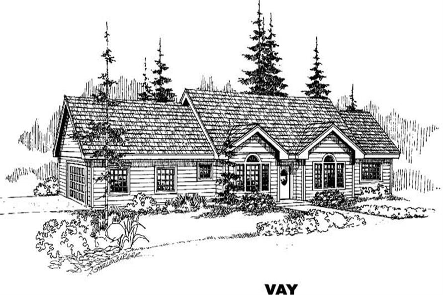 4-Bedroom, 2001 Sq Ft Ranch House Plan - 145-1327 - Front Exterior