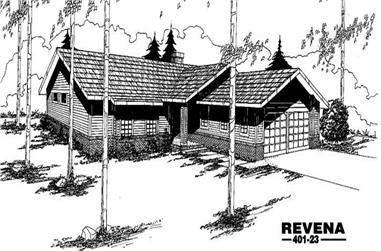 3-Bedroom, 1599 Sq Ft Ranch Home Plan - 145-1328 - Main Exterior