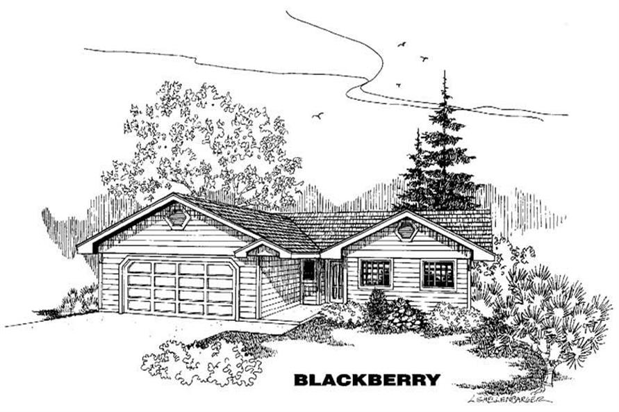 3-Bedroom, 1260 Sq Ft Small House Plans - 145-1330 - Main Exterior