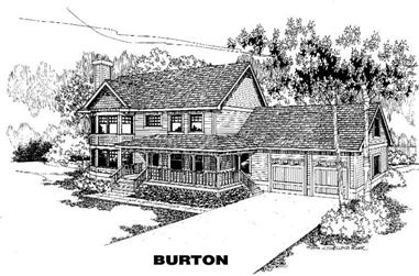 4-Bedroom, 2381 Sq Ft Country House Plan - 145-1333 - Front Exterior