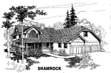 4-Bedroom, 3193 Sq Ft Country Home Plan - 145-1335 - Main Exterior