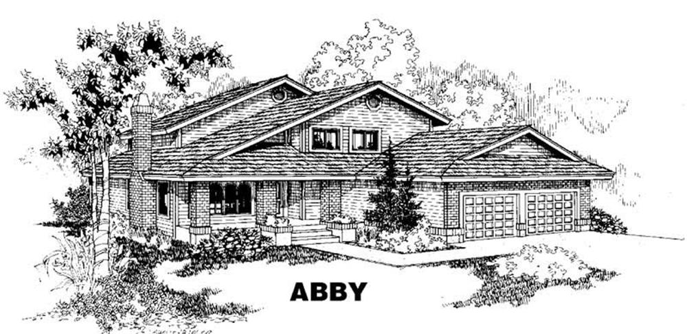 Traditional home (ThePlanCollection: Plan #145-1338)