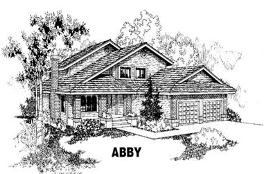 3-Bedroom, 2402 Sq Ft Traditional Home Plan - 145-1338 - Main Exterior