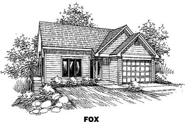 3-Bedroom, 1198 Sq Ft Small House Plans - 145-1339 - Front Exterior