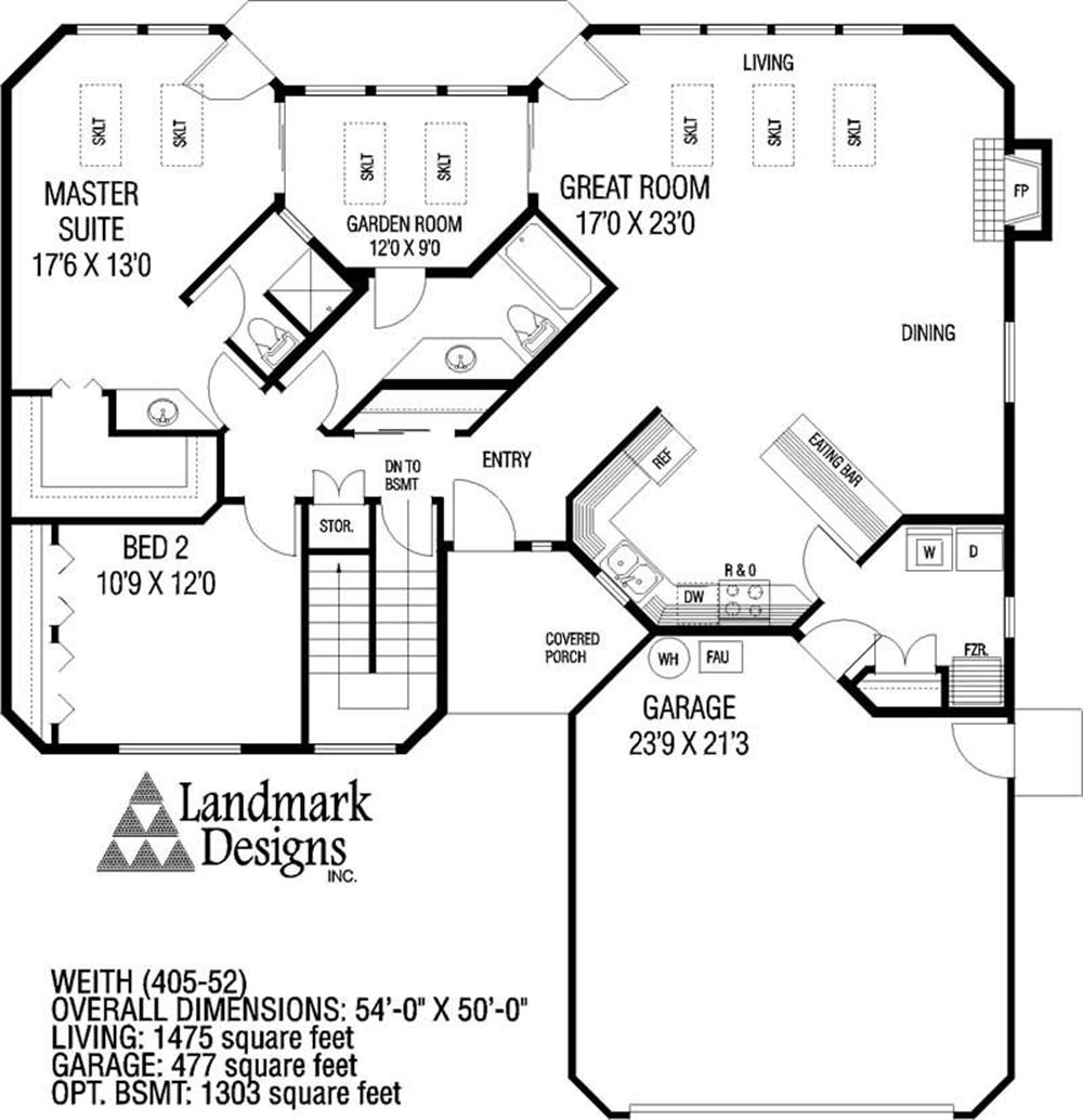 Large Images For House Plan 145 1341