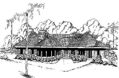 2-Bedroom, 1482 Sq Ft Ranch House Plan - 145-1342 - Front Exterior