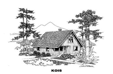 1-Bedroom, 1222 Sq Ft Country Home Plan - 145-1344 - Main Exterior