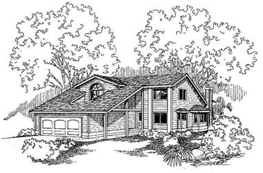 2-Bedroom, 1824 Sq Ft Contemporary House Plan - 145-1345 - Front Exterior