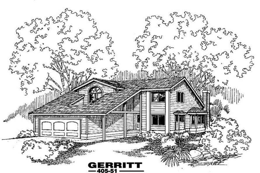 Main image for house plan # 6377