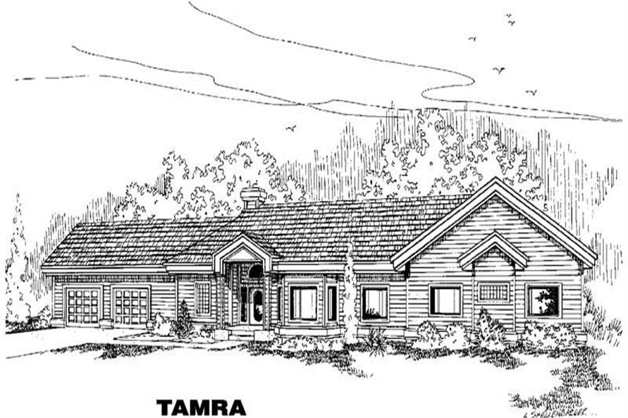 4-Bedroom, 2579 Sq Ft Home Plan - 145-1349 - Main Exterior