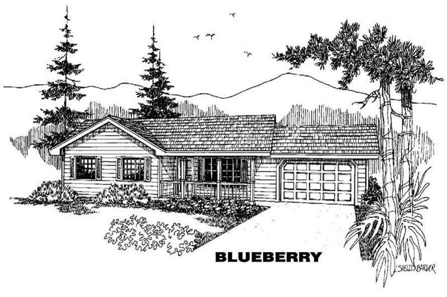 3-Bedroom, 1172 Sq Ft Small House Plans - 145-1351 - Main Exterior