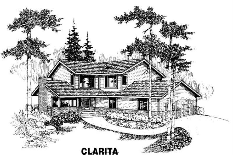 3-Bedroom, 2178 Sq Ft Home Plan - 145-1355 - Main Exterior