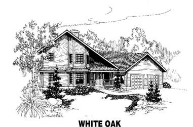 3-Bedroom, 2712 Sq Ft House Plan - 145-1358 - Front Exterior