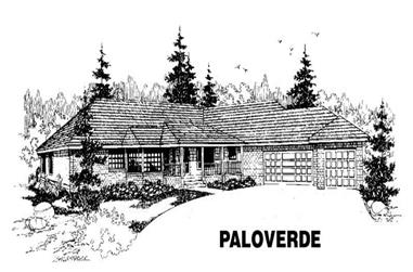 4-Bedroom, 2492 Sq Ft Ranch House Plan - 145-1359 - Front Exterior