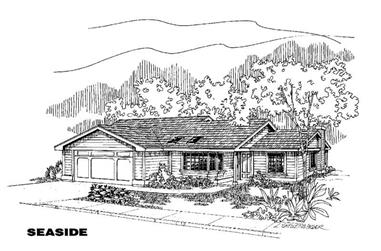 3-Bedroom, 1526 Sq Ft Country Home Plan - 145-1361 - Main Exterior