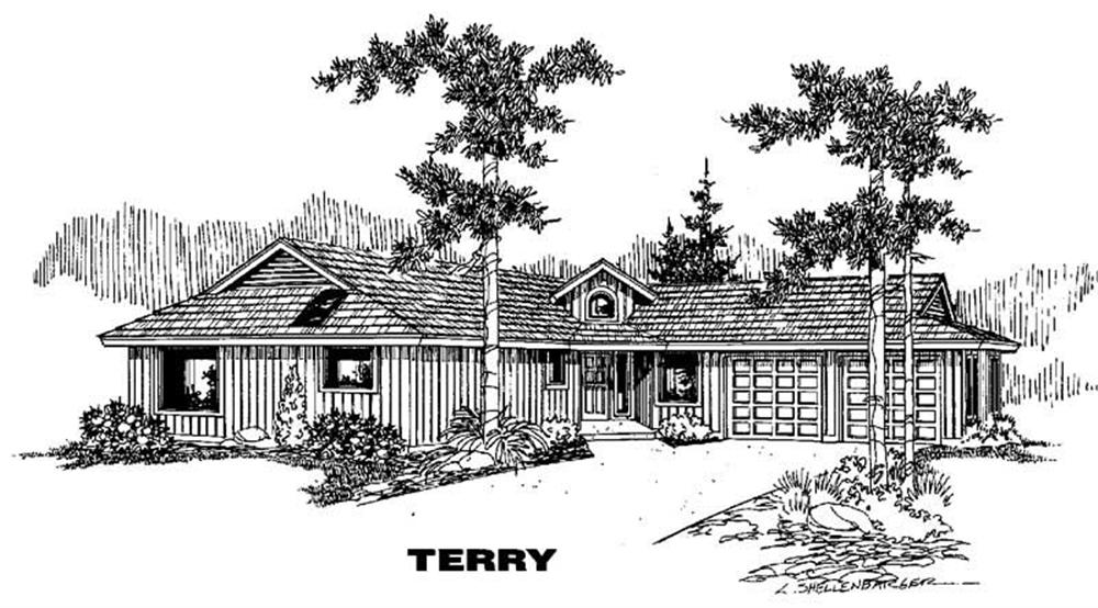 Ranch home (ThePlanCollection: Plan #145-1362)