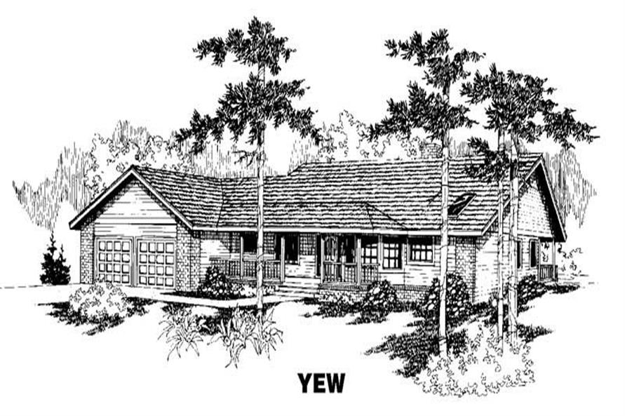 3-Bedroom, 2282 Sq Ft Ranch Home Plan - 145-1364 - Main Exterior