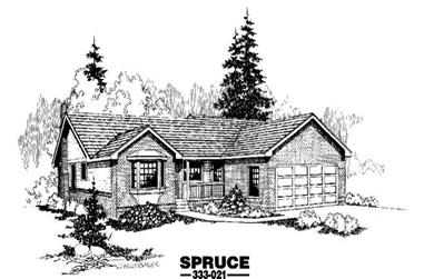 3-Bedroom, 1511 Sq Ft Home Plan - 145-1365 - Main Exterior