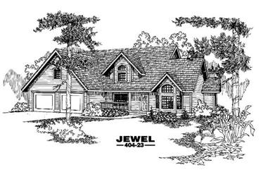4-Bedroom, 2612 Sq Ft Farmhouse House Plan - 145-1369 - Front Exterior