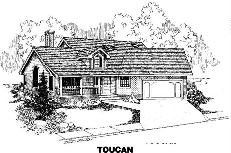 3-Bedroom, 1651 Sq Ft Small House Plans - 145-1371 - Main Exterior