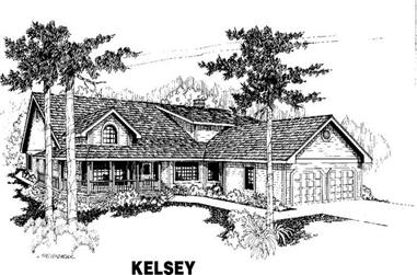 3-Bedroom, 2699 Sq Ft Country Home Plan - 145-1372 - Main Exterior