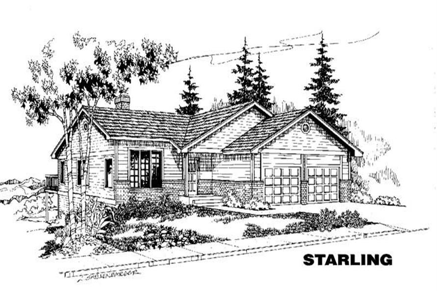 3-Bedroom, 1166 Sq Ft Ranch Home Plan - 145-1373 - Main Exterior