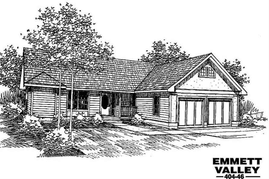 3-Bedroom, 1755 Sq Ft Ranch House Plan - 145-1374 - Front Exterior