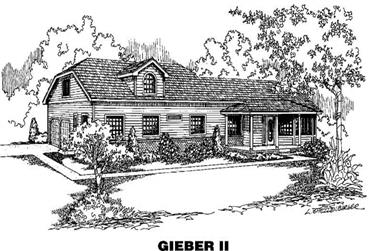 4-Bedroom, 2594 Sq Ft Country House Plan - 145-1375 - Front Exterior