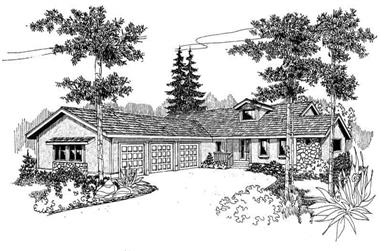2-Bedroom, 1936 Sq Ft Contemporary Home Plan - 145-1376 - Main Exterior