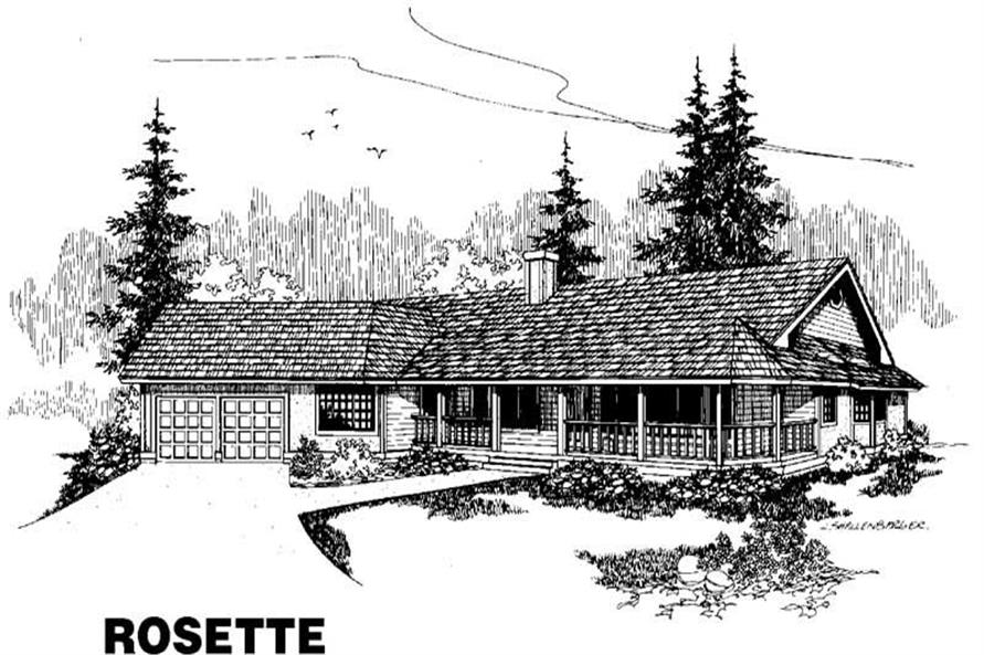 4-Bedroom, 2533 Sq Ft Country Home Plan - 145-1379 - Main Exterior
