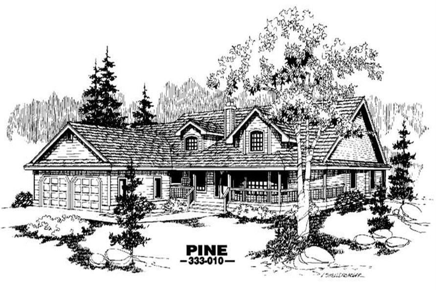 3-Bedroom, 2397 Sq Ft Home Plan - 145-1381 - Main Exterior