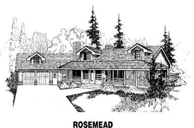 3-Bedroom, 2679 Sq Ft Country Home Plan - 145-1388 - Main Exterior