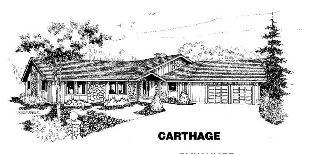 Ranch home (ThePlanCollection: Plan #145-1389)