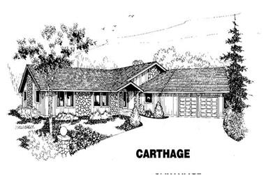 3-Bedroom, 2345 Sq Ft House Plan - 145-1389 - Front Exterior