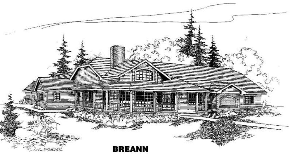 Contemporary home (ThePlanCollection: Plan #145-1390)