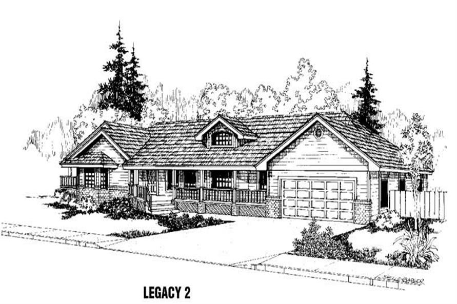 3-Bedroom, 1701 Sq Ft House Plan - 145-1393 - Front Exterior