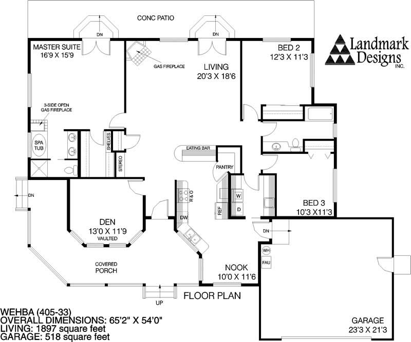 House plans home design wehba 6368 for Dfd house plans 1897