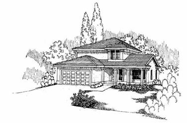 3-Bedroom, 1608 Sq Ft Bungalow House Plan - 145-1397 - Front Exterior