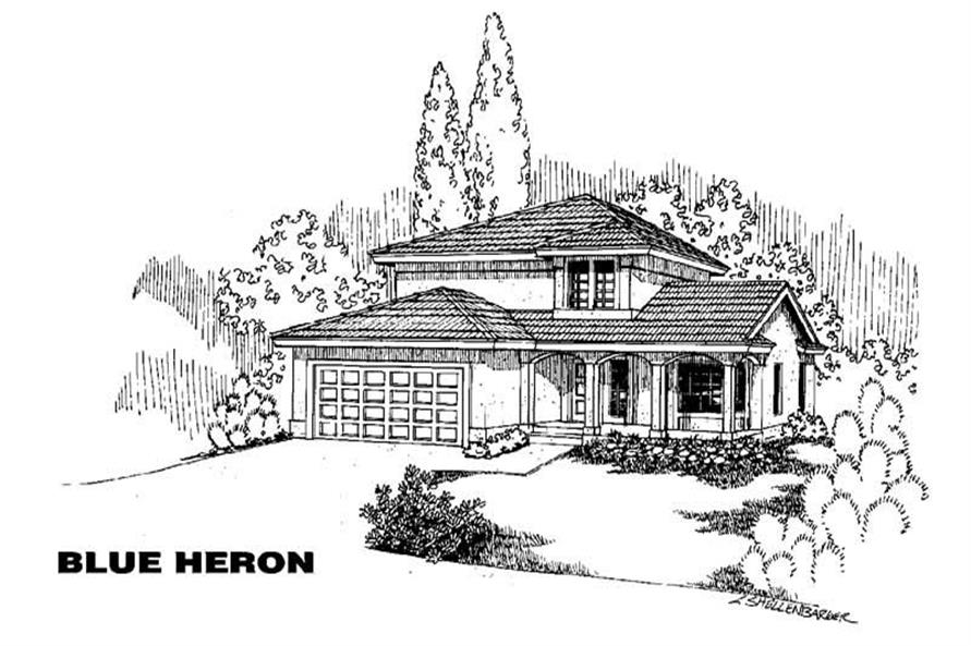 3-Bedroom, 1608 Sq Ft Home Plan - 145-1397 - Main Exterior