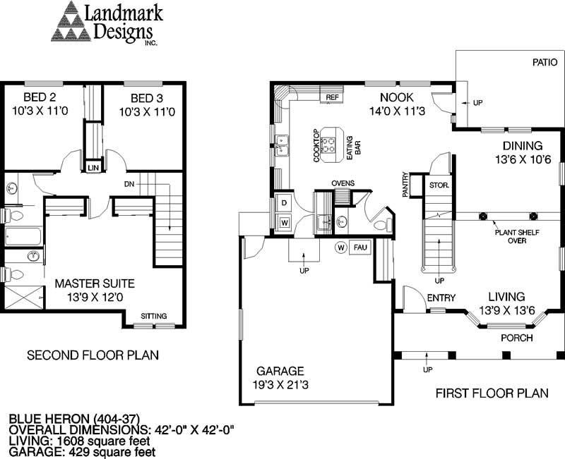 Home Design Blue Heron # 5597