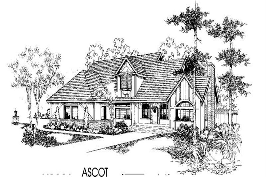 Luxury home (ThePlanCollection: Plan #145-1401)