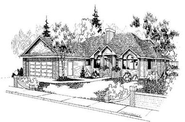 3-Bedroom, 2185 Sq Ft Ranch House Plan - 145-1402 - Front Exterior
