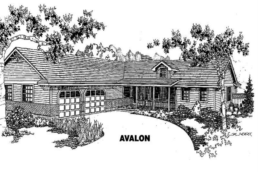 3-Bedroom, 1490 Sq Ft Country House Plan - 145-1403 - Front Exterior