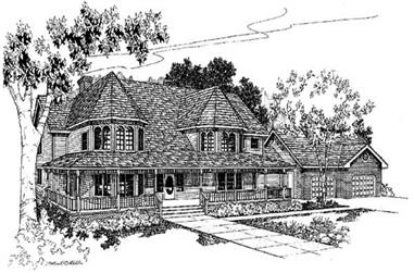 4-Bedroom, 3345 Sq Ft House Plan - 145-1404 - Front Exterior