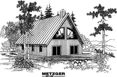 2-Bedroom, 1423 Sq Ft Vacation Homes Home Plan - 145-1407 - Main Exterior