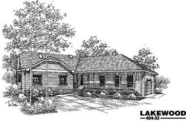 4-Bedroom, 2608 Sq Ft Home Plan - 145-1408 - Main Exterior