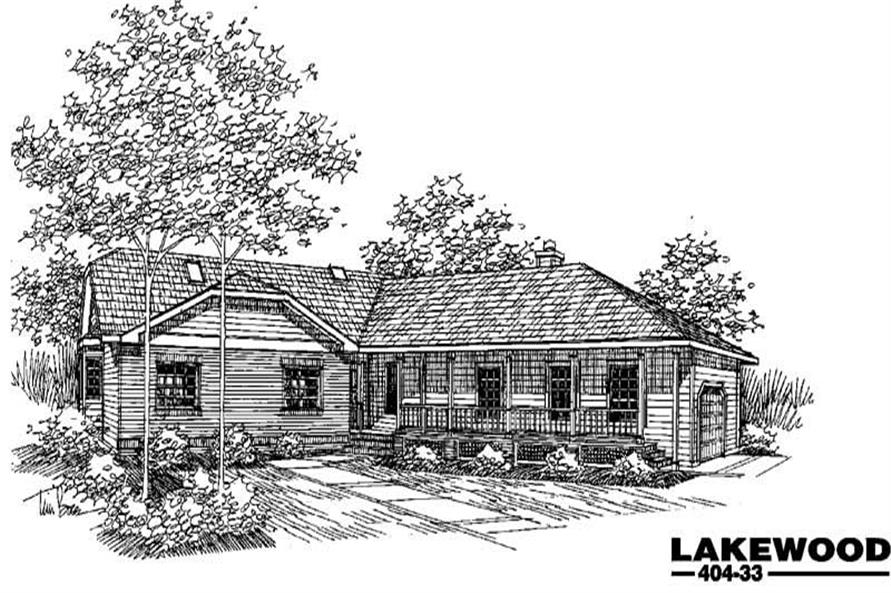 4-Bedroom, 2608 Sq Ft Home Plan - 145-1408 - Main Exterior