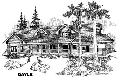 4-Bedroom, 5843 Sq Ft Home Plan - 145-1409 - Main Exterior